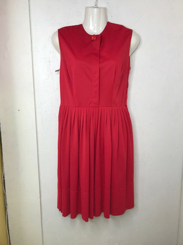 Vintage 60s 70s Red Sleeveless Mod Mini Scooter Go Go Boho Hippie Party Dress