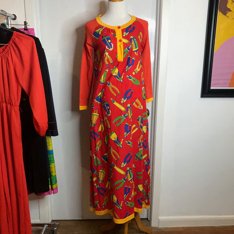Vintage 60s 70s | MOD Groovy Psychedelic Art Peter Max Dress | S/M
