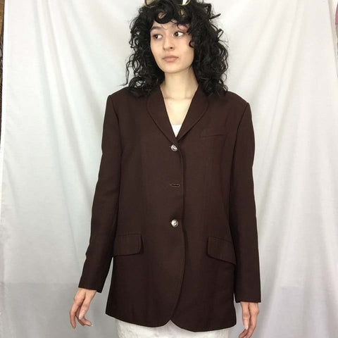 Junior Gaultier | Jean Paul Gaultier Brown Blazer Jacket | Size 44