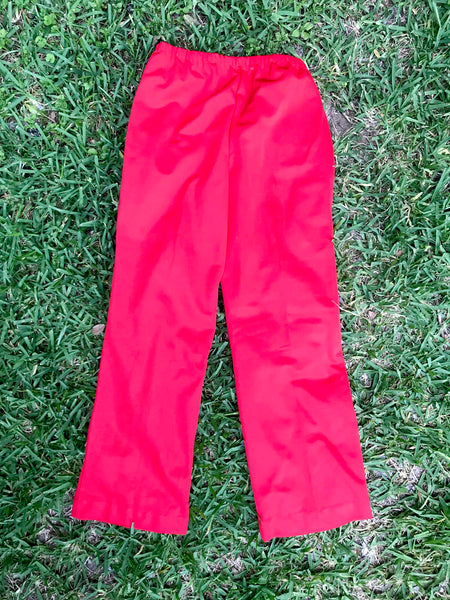 Vintage 70s | High Waisted Boho Hippie Disco Polyester Wide Leg Bell Bottoms M