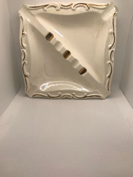 Mid Century Ashtray | White Gold |E-5162