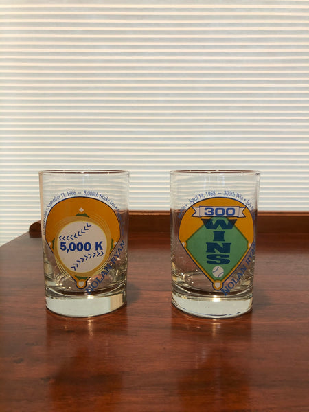 Nolan Ryan Commemorative Glasses