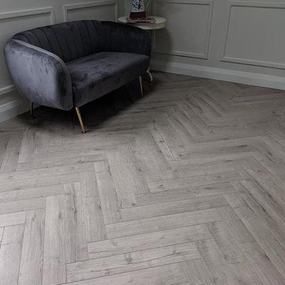 Konig Grey Oak Herringbone