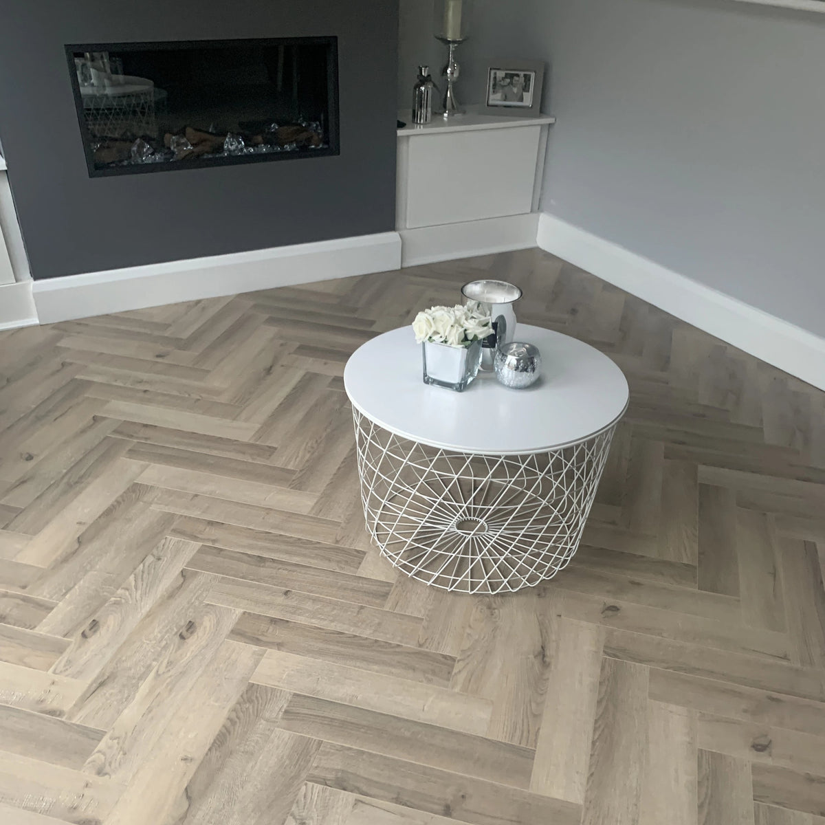Rustic Oak Herringbone