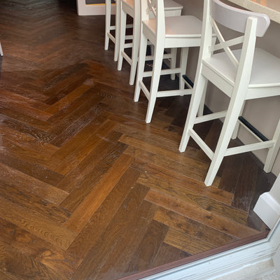 Dark Double Smoked Oak Herringbone