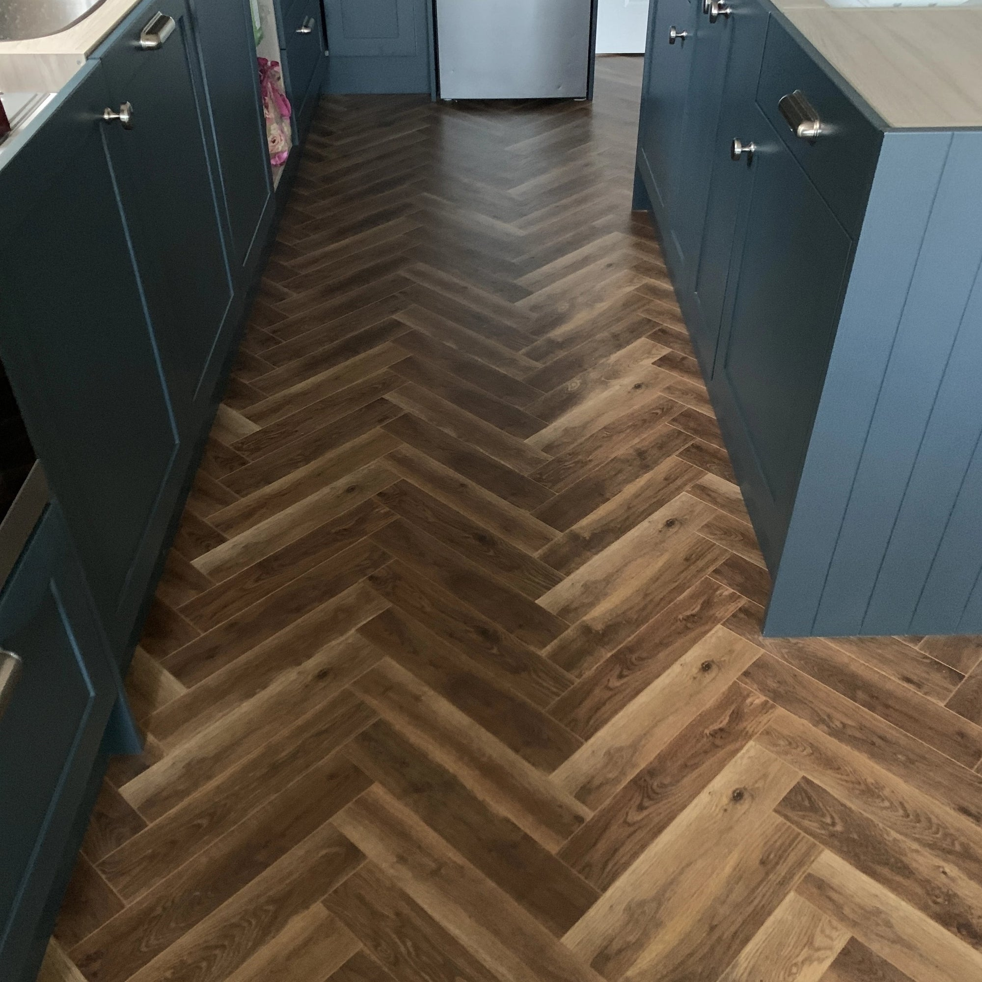 Lightly Smoked Oak Herringbone