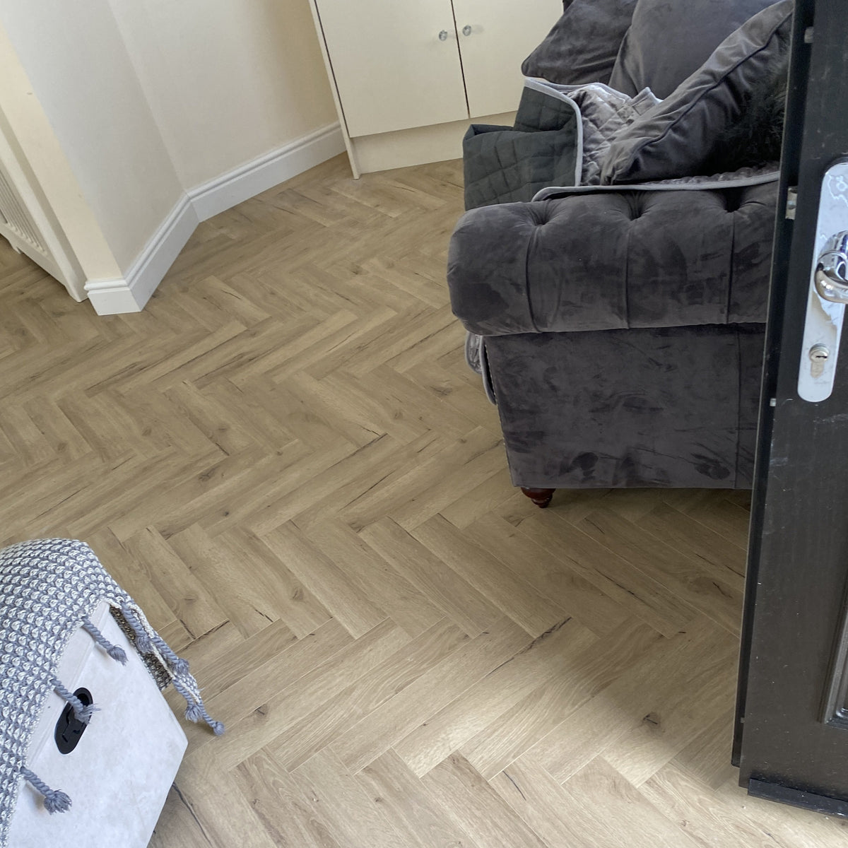 Pale Oak Herringbone