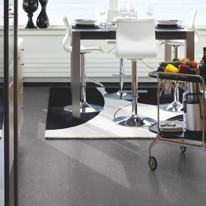 Pergo Light Grey Slate Tile Effect Laminate (Big Slab 4V)