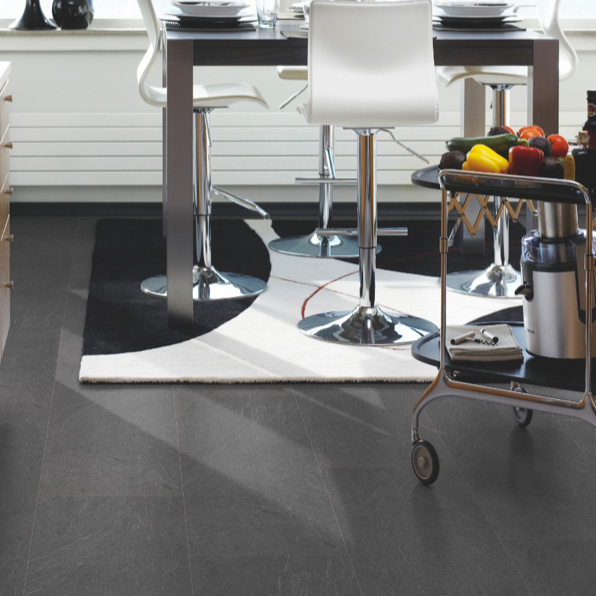 Pergo Medium Grey Slate Tile Effect Laminate (Big Slab 4V)