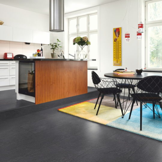 Pergo Charcoal Slate Tile Effect Laminate (Big Slab 4V)