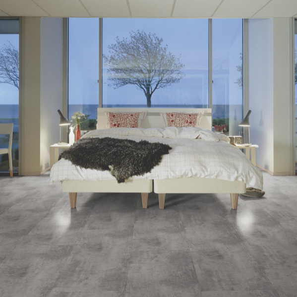 Pergo Concrete Medium Grey Tile Effect Laminate (Big Slab 4V)