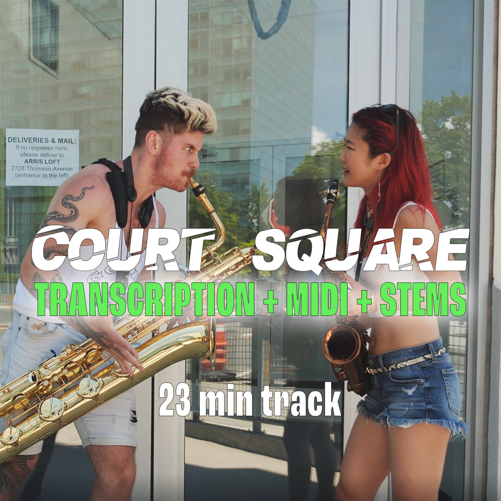 2SAXY - Court Square - Transcription + MIDI + Stems