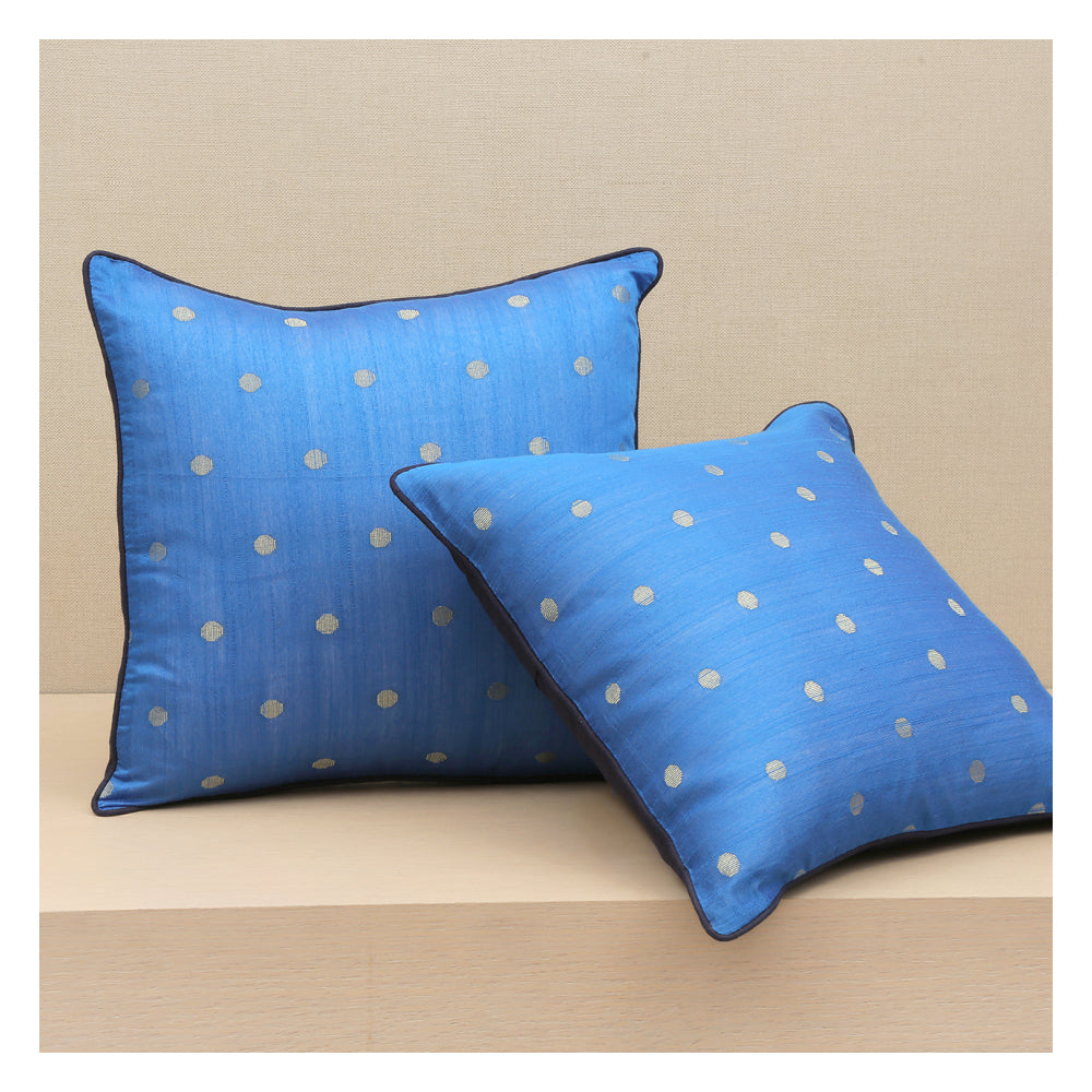 Diya Celebration Cushion - Blue