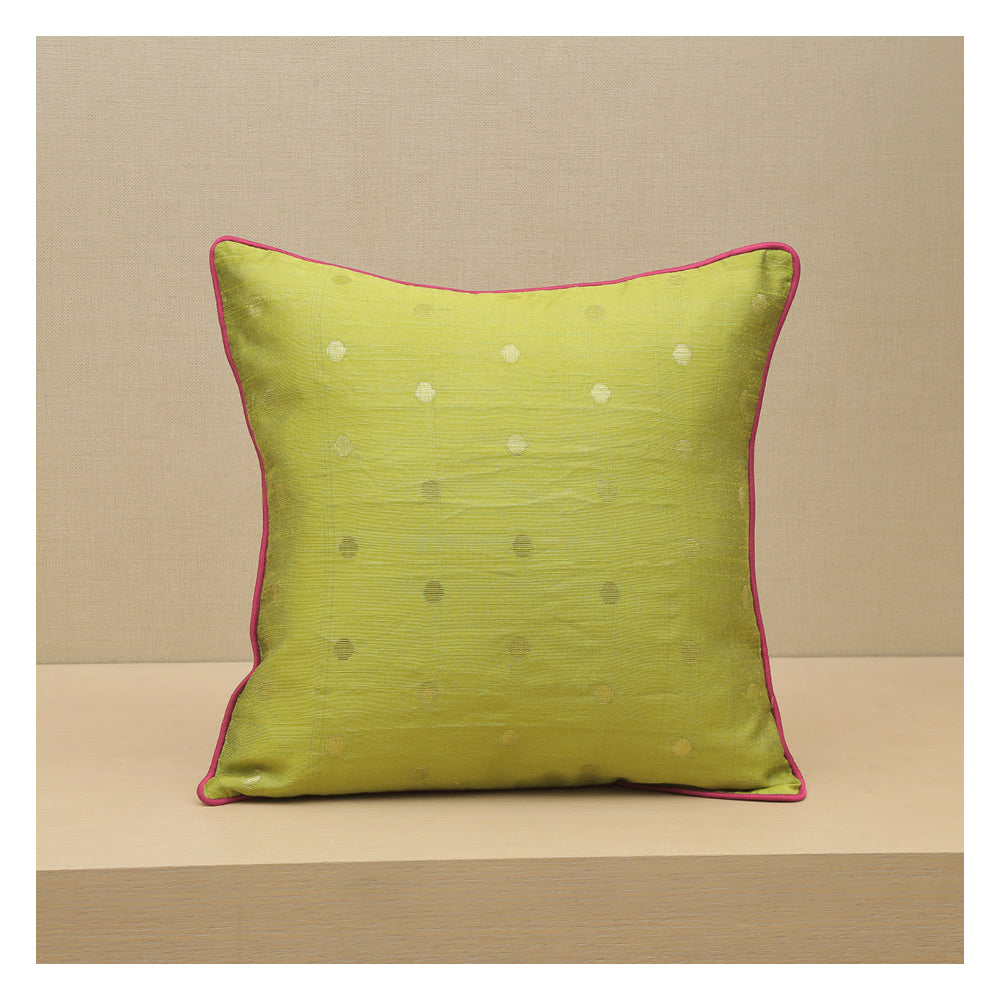 Diya Celebration Cushion - Green