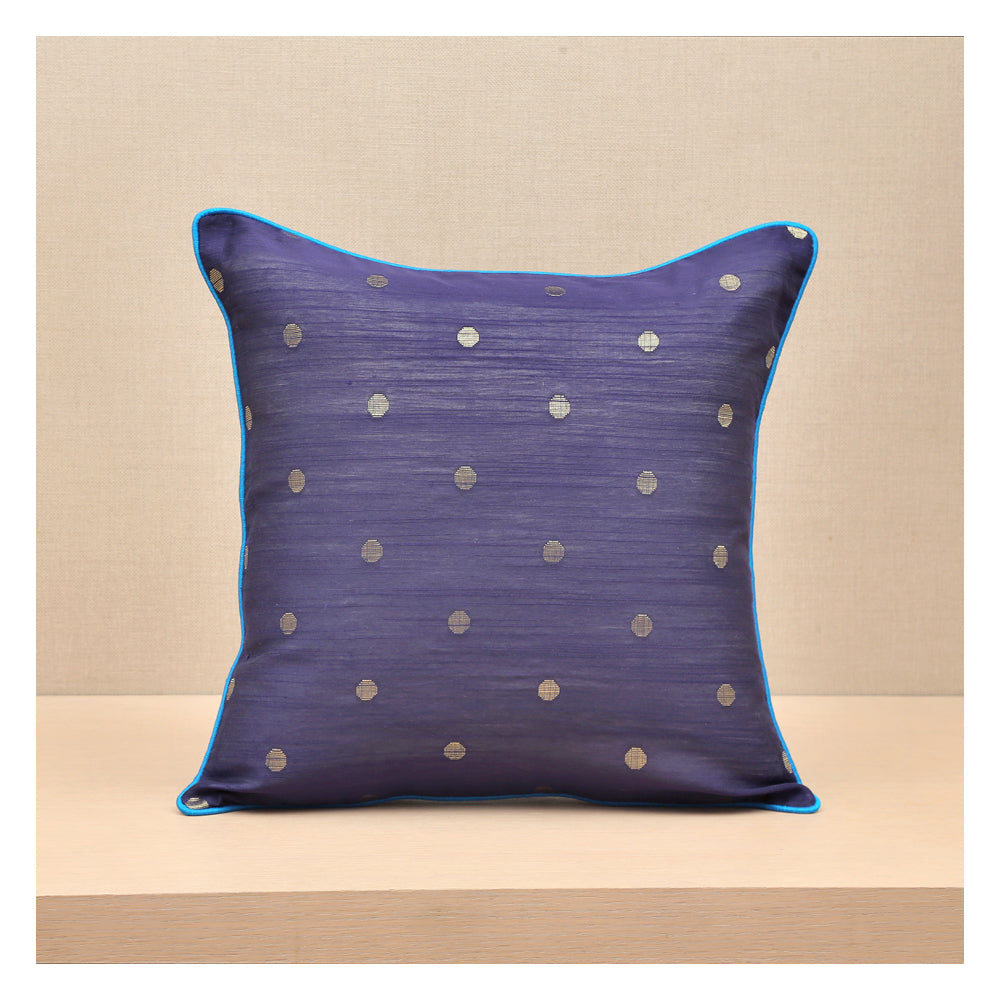 Diya Celebration Cushion - Navy