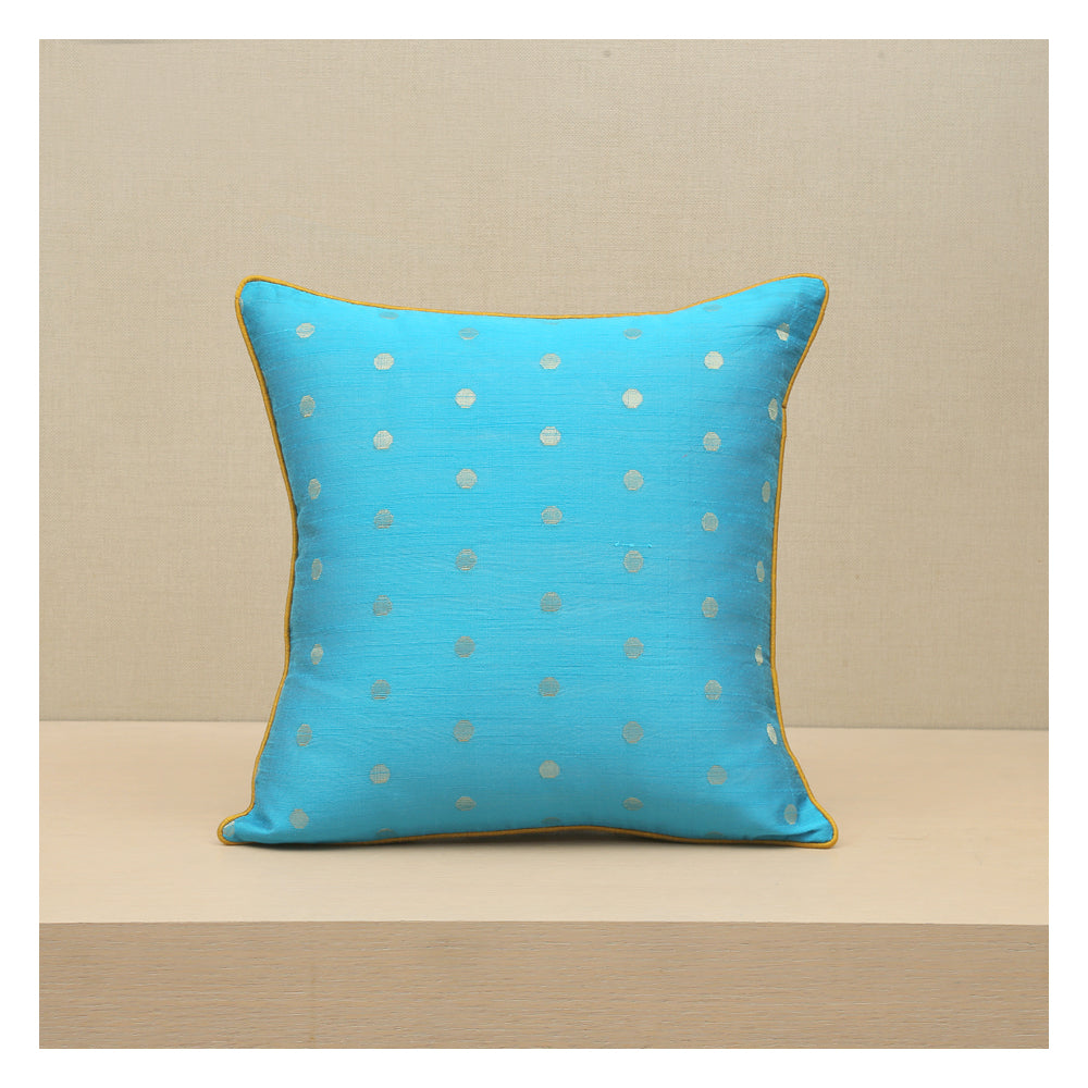 Diya Celebration Cushion - Turquoise