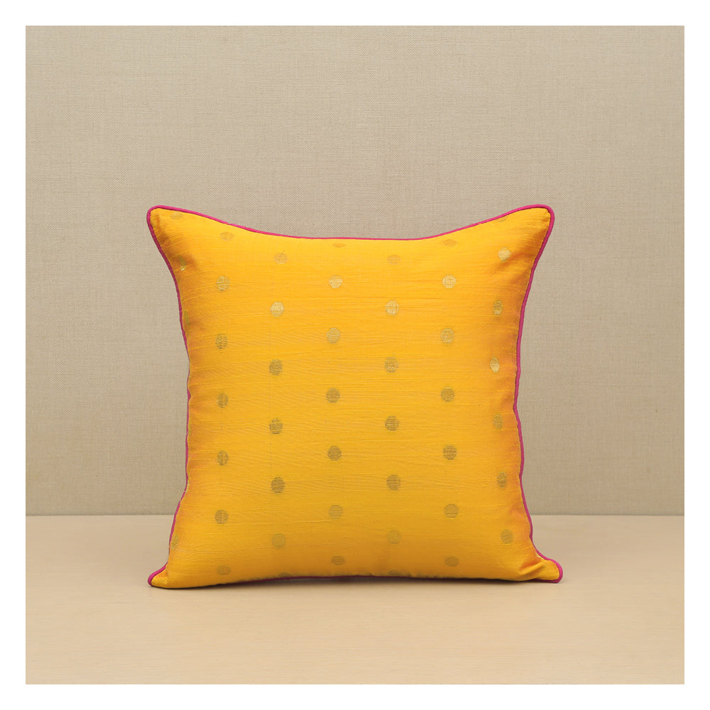 Diya Celebration Cushion - Yellow