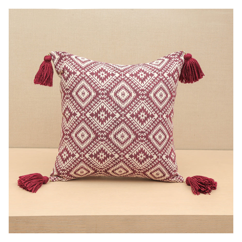 Diamond Jacquard  - Plum - Set of 2 Cushions