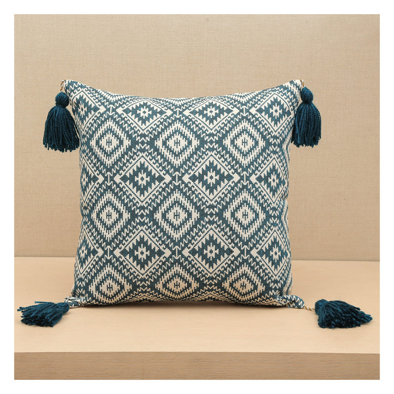 Diamond Jacquard  - Teal - Set of 2 Cushions