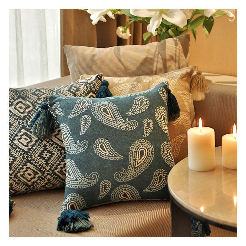 Paisley Jacquard  - Teal - Set of 2 Cushions