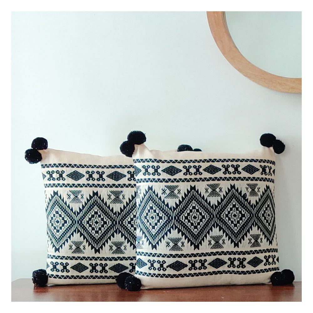 Aztec Border Cushion - Set of 2