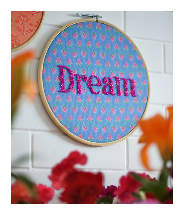 Embroidered Wall Art -  Dream