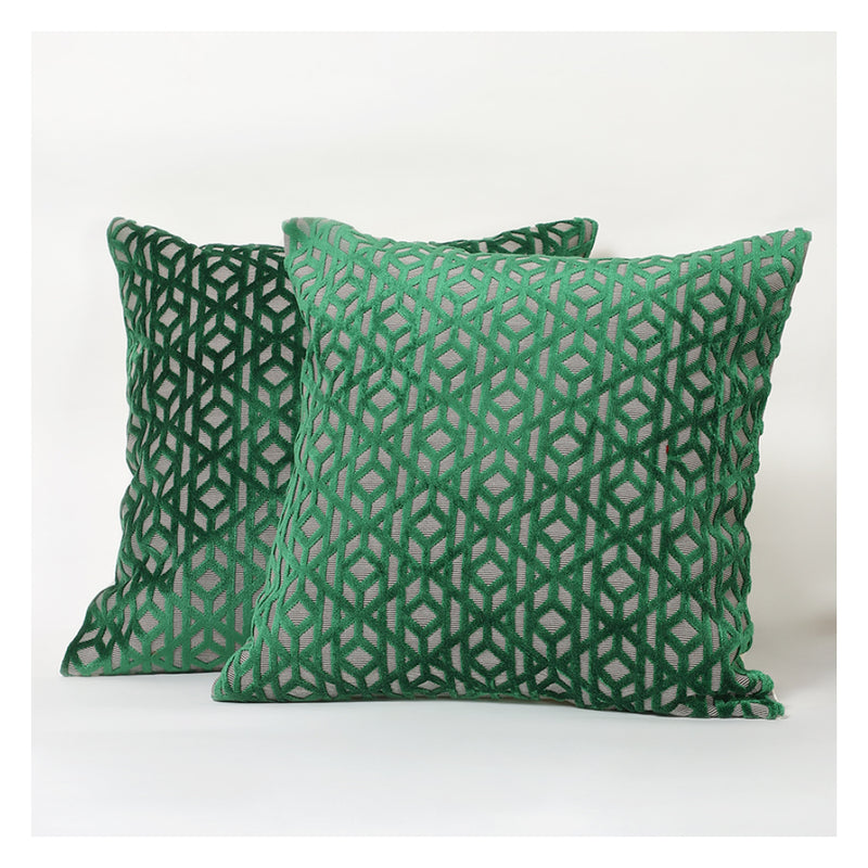 Emerald Velvet Cushions - Set of 2