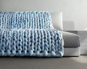 SnuggleTime - Wool Knitted Blanket