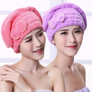 (Today big sale buy two discount code:S3)Quick Magic Hair Dry Hat