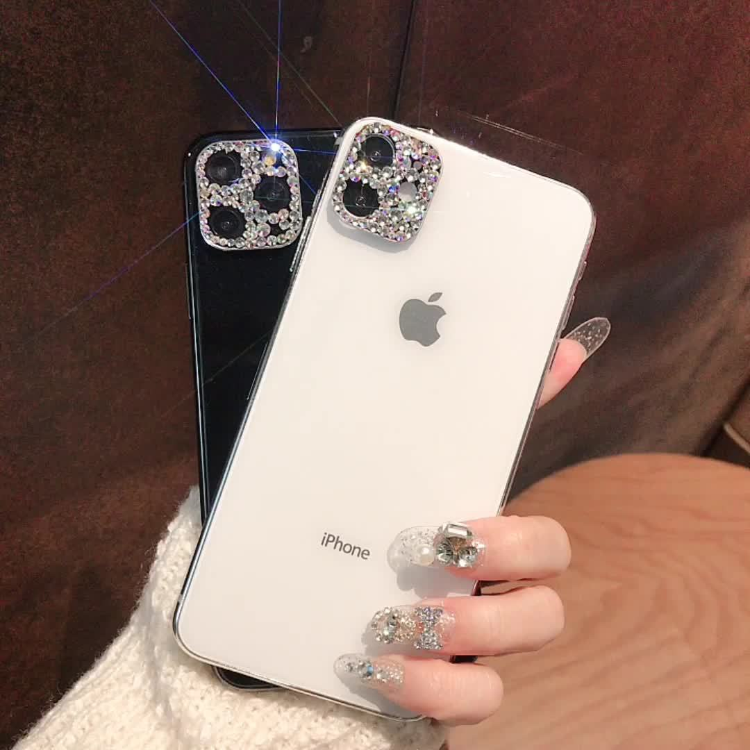 Diamond lens protector for iPhone