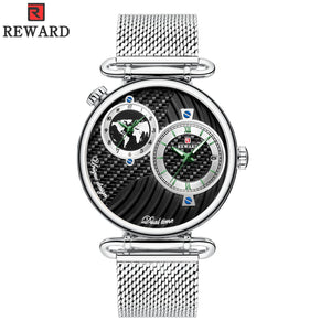 (sell at a low price)Dual time zone ultra-thin waterproof men's watch