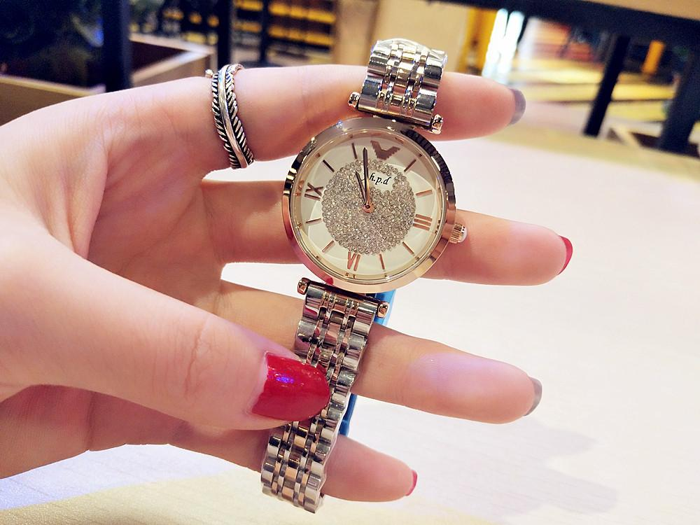 (Free shipping)Luxury 2019 new diamond-studded waterproof ladies watch