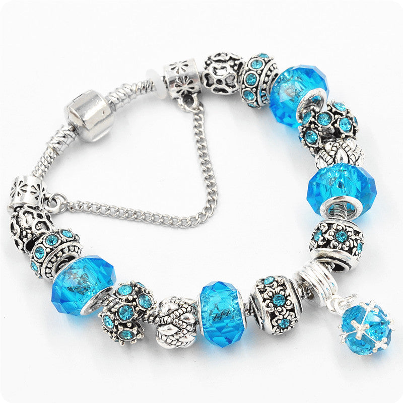 Luxury Crystal Bead Charm Bracelet