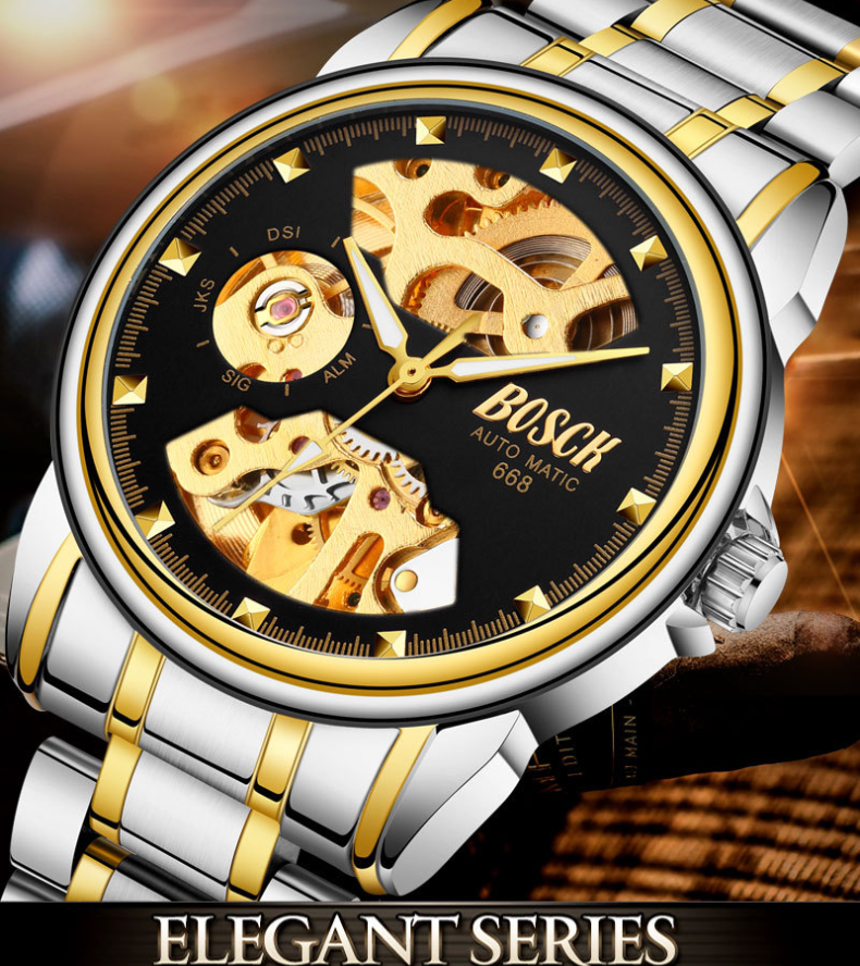 Holiday gift(sell at a low price)Golden luxury waterproof fashion watch