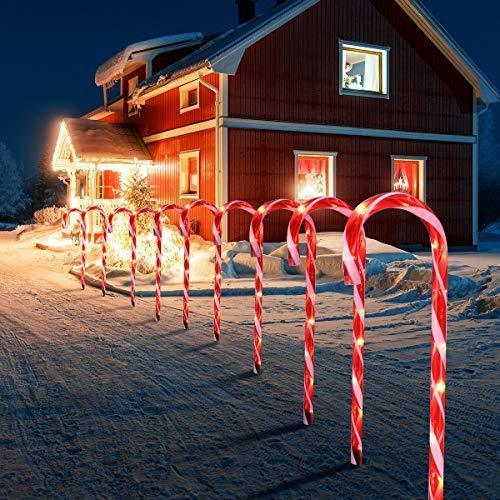 Christmas half price promotion-Solar outdoor LED Christmas cane light
