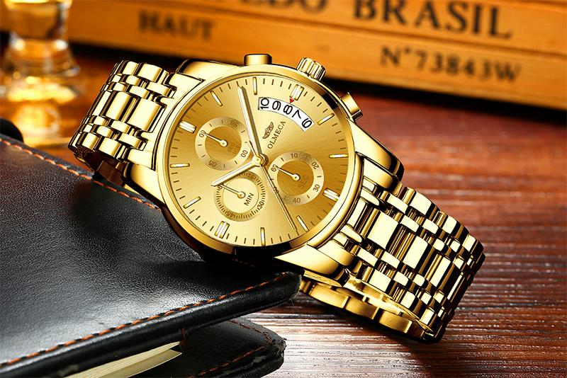 (sell at a low price)Golden luxury waterproof fashion watch