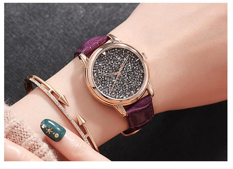 (Limited Time Offer)Rhinestone simple quartz watch