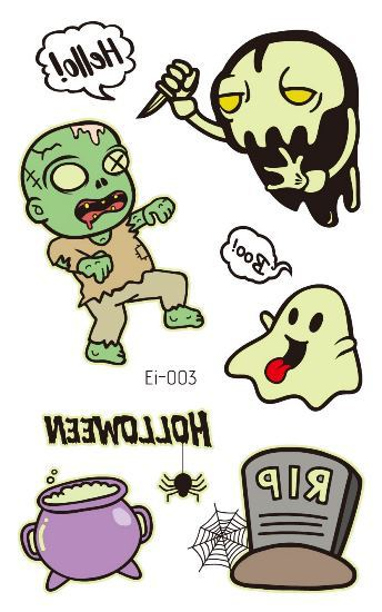 Halloween decoration luminous sticker waterproof tattoo sticker