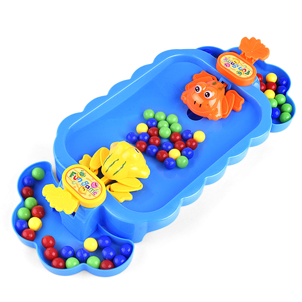 Funny Frog Eating Beans Beads Interactive Anti Stress Kids Toy