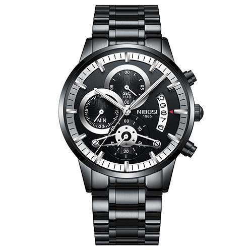 Holiday gift(Limited time offer)Mens Casual Watches Stainless Quartz Chronograph Waterproof Watch