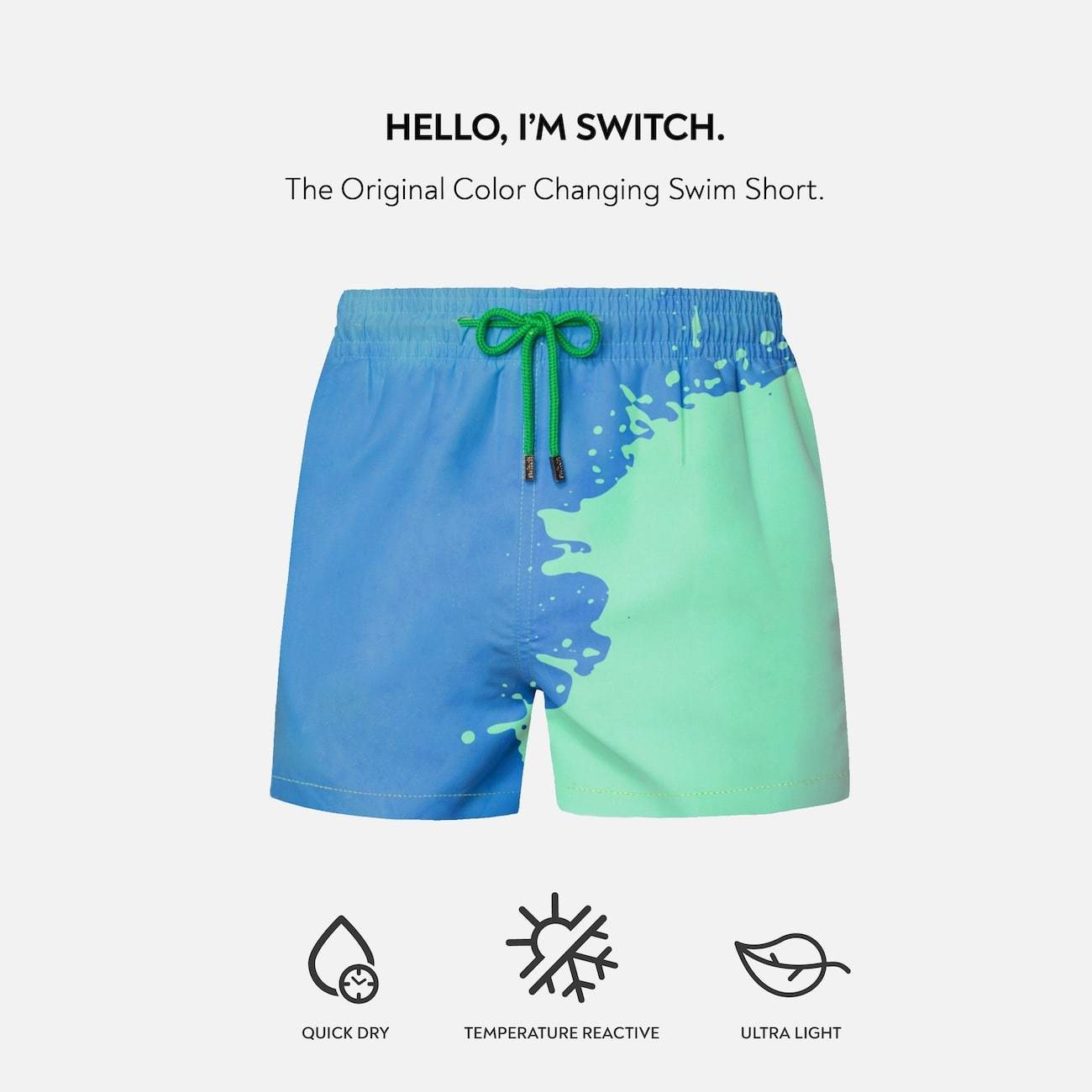 MAN SWITCH COLOR CHANGING SWIM TRUNKS