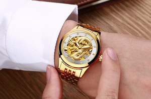 Holiday gift(Limited time offer)Golden luxury waterproof fashion watch