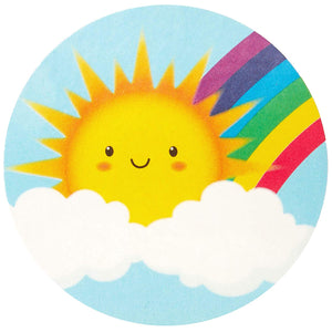 Rainbow and Sunshine Stickers for Kids (1.5 in, 8 Designs, 1000 pcs)
