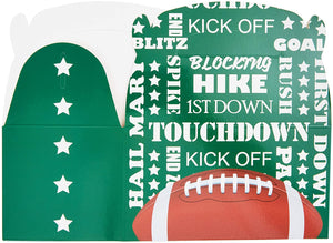 Football Gift Box, Party Favor Boxes (24 Pack)