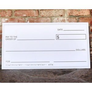 Blue Panda Giant Checks - 5-Count Paper Giant Fake Novelty Checks, Large Presentation Checks for Endowment Award, Donations, and Fundraisers, Each Big Check Measures 30 x 16 Inches