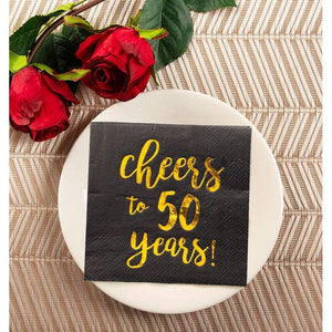 Cocktail Napkins - 50-Pack Luncheon Napkins for Birthday, Anniversary