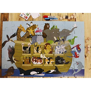 48-Piece Giant Floor Puzzle Noah's Ark Jumbo Jigsaw Puzzles Gift for Kids 3+