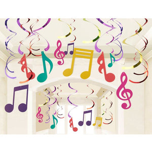 30 Pieces Swirl Decorations,  Music Decor Party, Hanging Musical Note Whirls