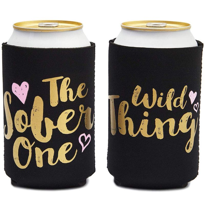 12 Bridal Shower 12oz Neoprene Bachelorette Party Insulated Beer Sleeve Coolers