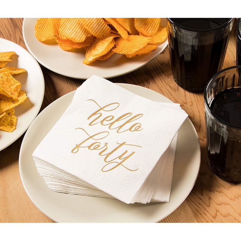 Cocktail Napkins - 50-Pack Luncheon Napkins, Disposable Paper Napkins Party